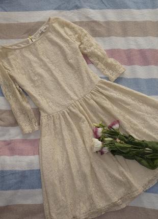 Гипюровое платье river island