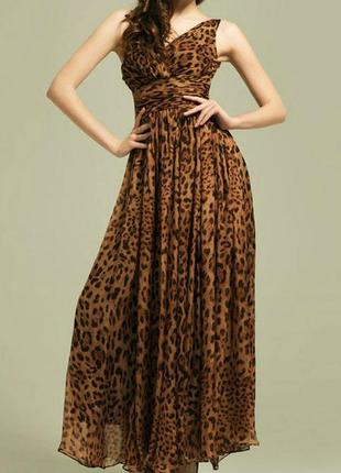 🌺👗🌺красивое женское леопардовое шифоновое плиссированное платье, сарафан xiao ji🔥🔥🔥