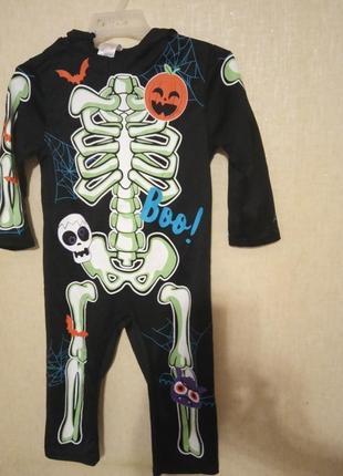 Костюм карнавальный хеллоуин hellowin скелет morrisons 2-3 года р.92-93