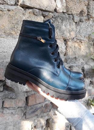 Женские демисезонные ботинки, натуральная кожа
