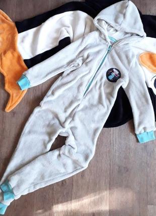 Теплый комбинезон слип человечек пижама