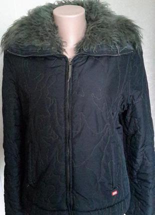Куртка зимняя miss syxty оригинал c искуственным мехом, размер м-l4
