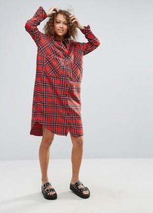 Трендовое платье рубашка оверсайз monki