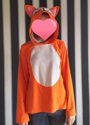 Пижамная кофта с ушками лисичка