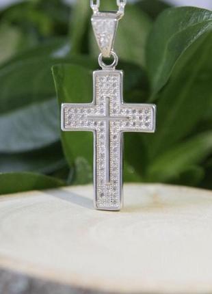 Подвес серебро 925 крест лк0055