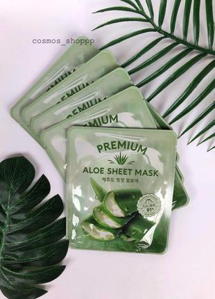 Тканевая маска с алоэ missha premium aloe sheet mask