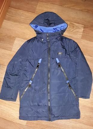 Теплая зимняя куртка трансформер( с подстежкой) размер 128.