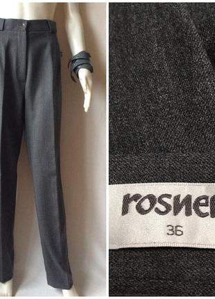 Rosner шерстяные классические тёплые базовые брюки высокая талия