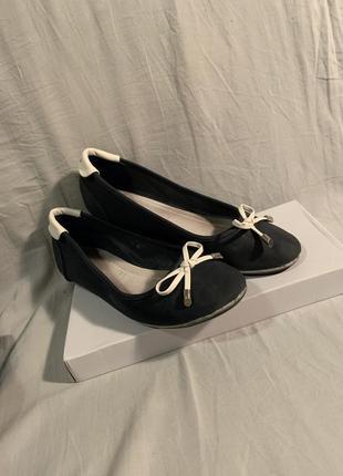 Балетки лодочки туфли с бантиком