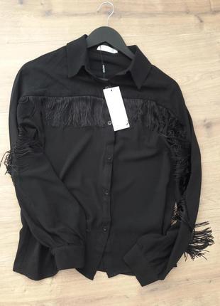 Рубашка в ковбойском стиле с бахромой