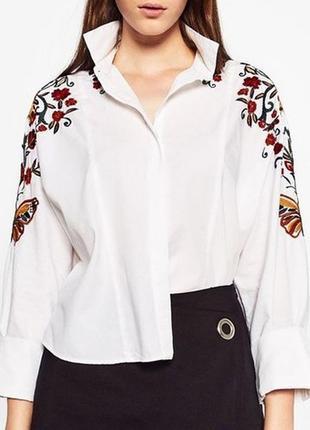 Рубашка из поплина zara