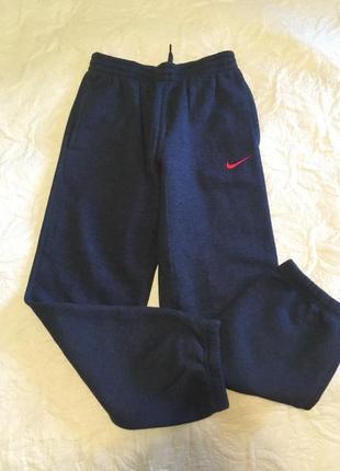 Теплые штаны nike, оригинал. 10-12 лет