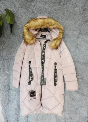 ✅ зимняя куртка пальто с мехом