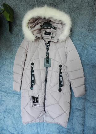 ✅ тёплая зимняя куртка с мехом