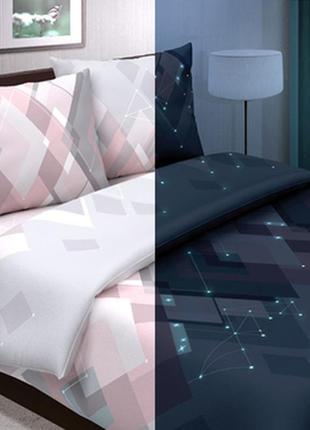 Светящееся постельное белье из поплина сияние