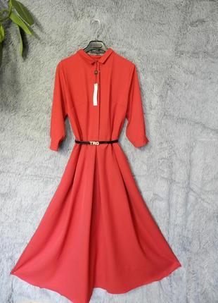 ✅ шикарные пышные платья с карманами и поясом разные цвета и размеры