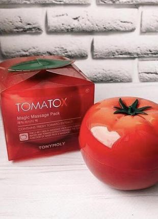 Томатная помидорная осветляющая выводящая токсины маска для лица tomatox tony moly