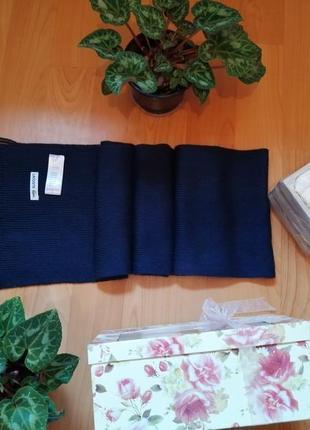 Брендовый шарф lacoste, 100% шерсть, размер 22х202см