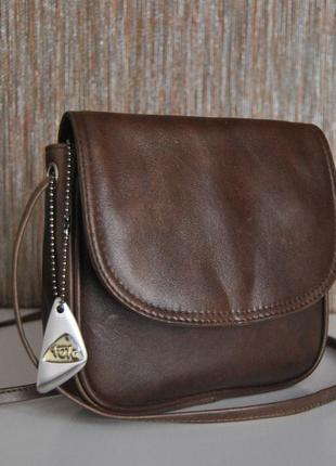 Кожаная сумка кроссбоди tula / шкіряна сумка