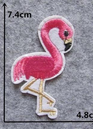Патч нашивка термоаппликация на одежду фламинго