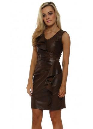 Кожаное платье от  rinascimento