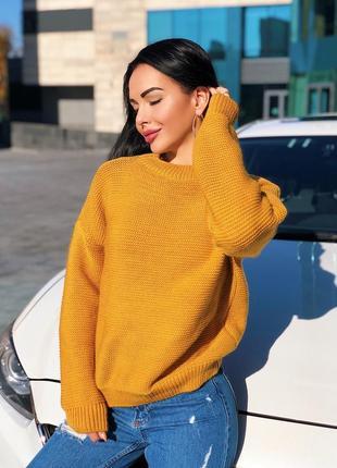 Крутой базовый теплый свитер оверсайз много цветов