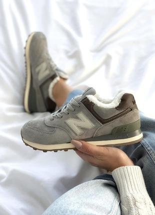 Женские кроссовки на меху new balance