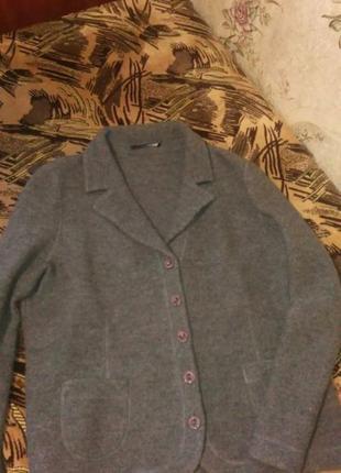 Пальто пиджак шерстяной натуральный