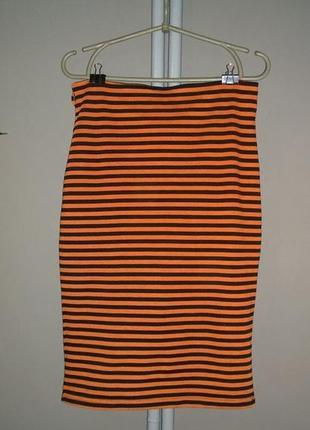 Стильная юбка карандаш в полоску