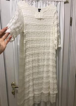 Платье белое - молочное rainbow collection 38-40 {s-m}