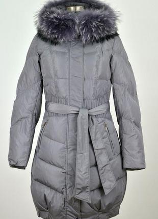 Куртка с натуральным мехом, размер 48