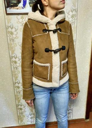 Куртка дублёнка искусственная под овчинку плюшевая