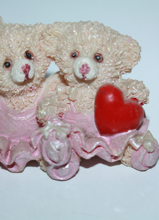 Статуэтка розовые мишки, сердечко, девочки