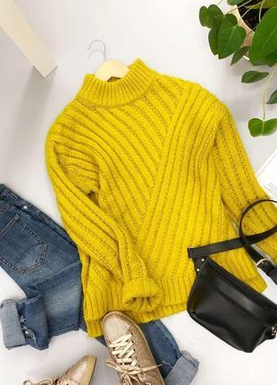 Невероятный свитер с горлом оверсайз оригинальной крупной вязки new look
