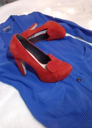 Туфли замшевые fornarina