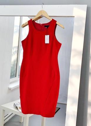 Роскошное красное платье футляр на подкладке next