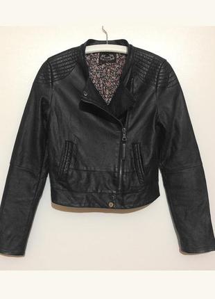 Женская кожаная черная косуха кожанка toxik короткая куртка курточка