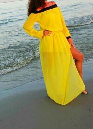 Жовто-гаряче плаття. розмір с-м