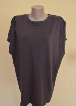 Шикарная брендовая туника платье  или футболка котон объемный верх от zara