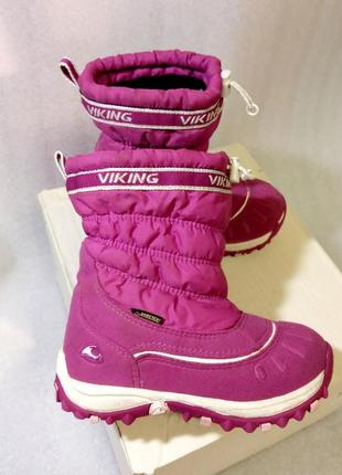 Теплые зимние сапоги viking gore-tex