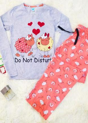 Пижама женская одежда для дома кофта штаны турция
