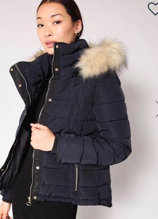 Куртка женская тёплая синяя чёрная стильная фирменная новая