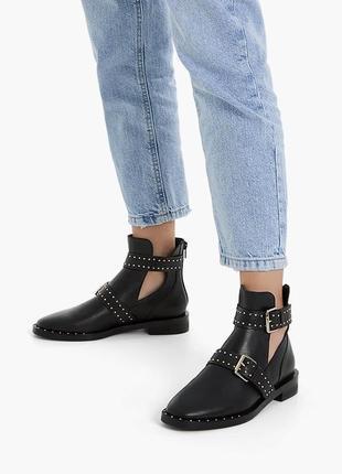Кожаные ботинки stradivarius оригинал из испании