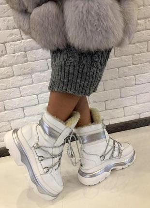 Ботинки зимние на толстой подошве