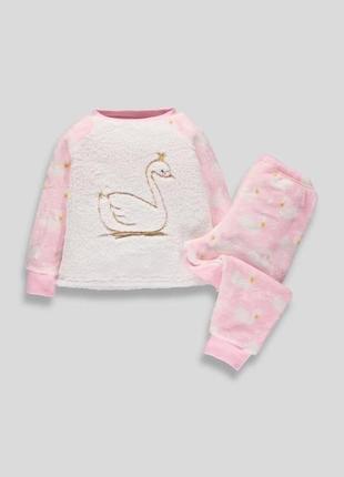 Пижамка пушистый флис от matalan, размер 4-5 лет
