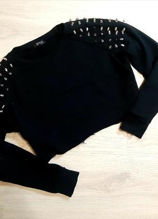Вкорочений трикотажний светр