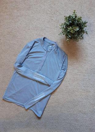 Женский спортивный лонгслив/футболка adidas response 1/2 zip long sleeve tee