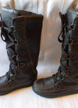 Зимние неубиваемые сапоги timberland rugged outdoor footwear 6,5 w--37.5