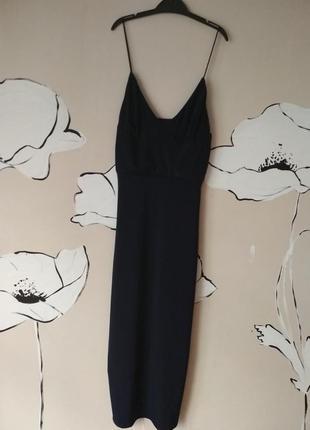 Вечернее платье, темносинее, по фигуре