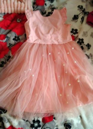 Персикова сукня